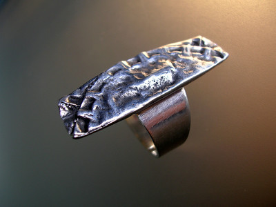 TWO FOLD TEXTURE RING