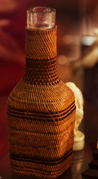 "This bottle is about 5"" high and the weaving is incredibly delicate"