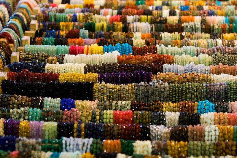 The volume of things at the show is overwhelming. There were 42 different venues each with about 50-75 vendors. This is one vendor of beads.