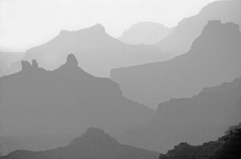 Canyon shadows black and white