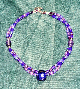 Purple foil bead