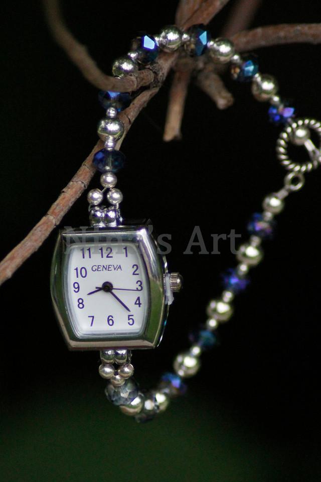 Rectangle Blue diamond watch