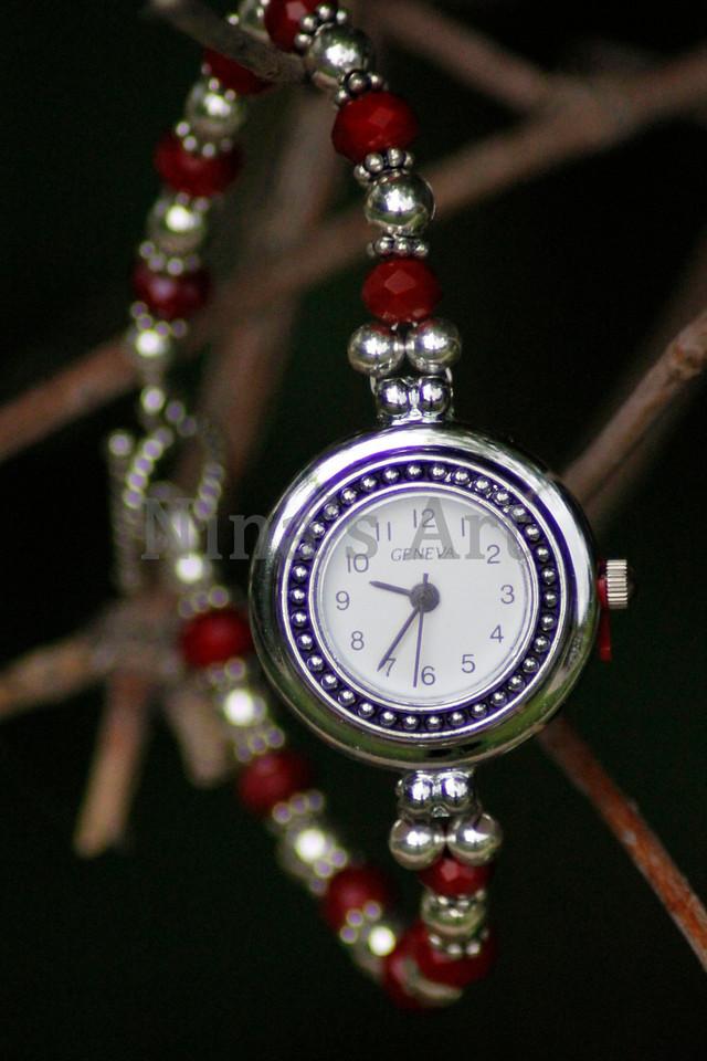 Round Red Watch