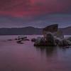 Tahoe Boulder Sunset
