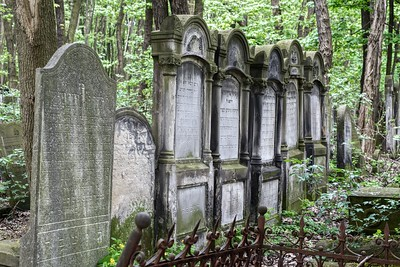 In a cemetery that seems chaotic at best, especially in the older areas, this collection of matching tombstones was a stark contrast.
