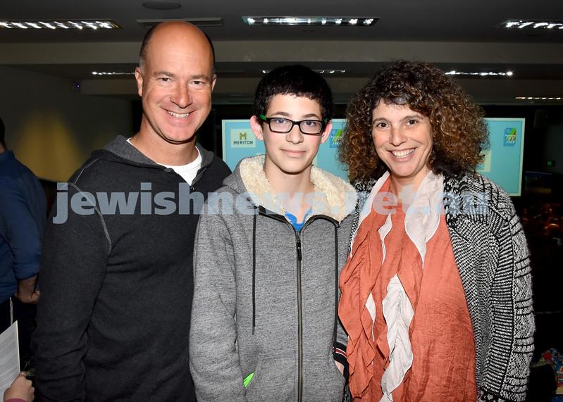 Jewish Changemaker Awards. Steven, Gidon, Karen Goodman. Pic Noel Kessel