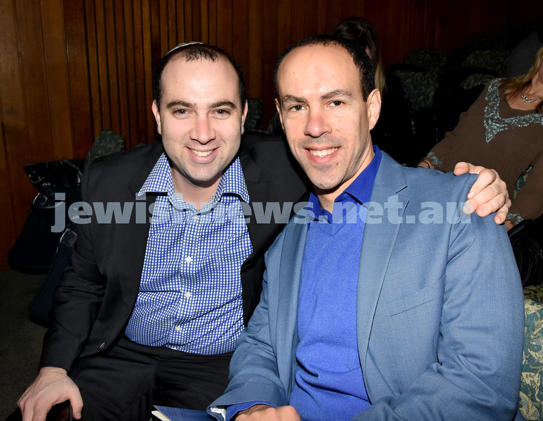 Jewish Changemaker Awards. Yigal Nisell (left), Adrian Mueller. Pic Noel Kessel