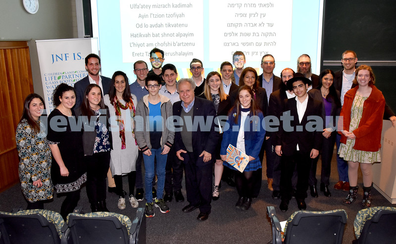 Jewish Changemakers Awards. Group shot of Nomminees and Winners. Pic Noel Kessel