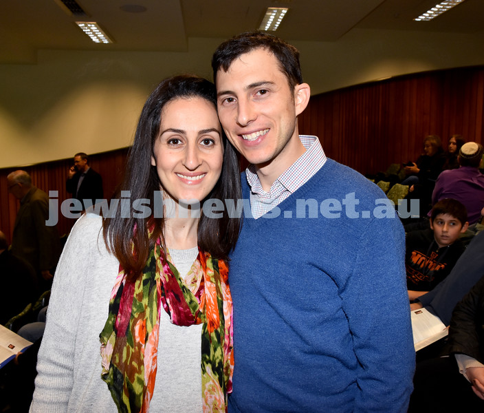 Jewish Changemaker Awards. Devorah and Robbie Tockar. Pic Noel Kessel