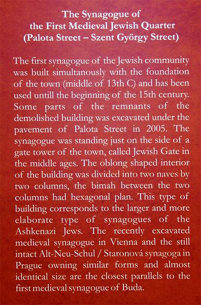 Budapest Medieval Synagogue