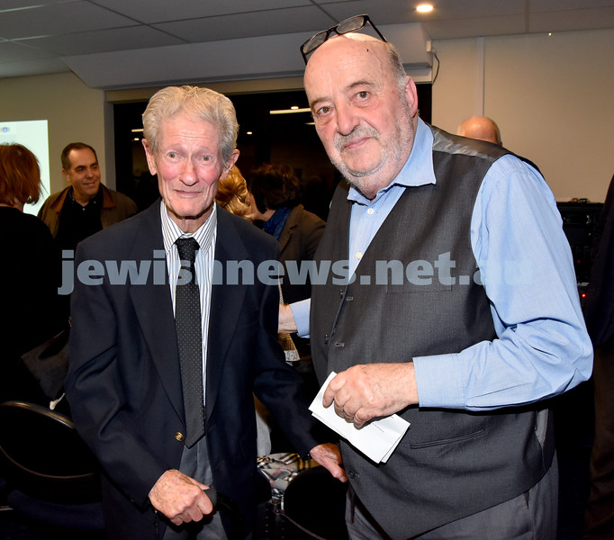 Jewish Life in Germany Today. Henry James (left), Konrad Kwiet. Pic Noel Kessel