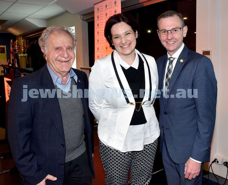 Jewish Life in Germany Today. From left: Ernie Friedlander, Dorit Herscovici, Bruce Notley-Smith. Pic Noel Kessel