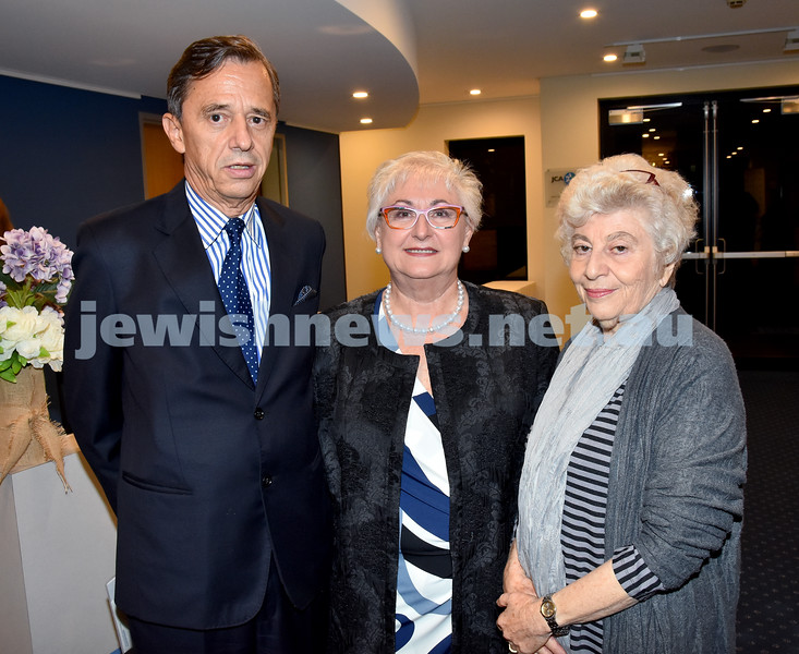 Jewish Life in Germany Today. From left: Juergen Kurzhals, Anna Marks, Dorit Mahemoff. Pic Noel Kessel