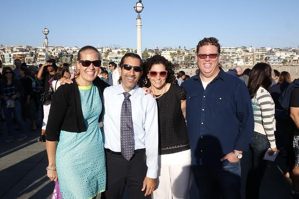 CTJ meets Temple Menorah on the Manhattan Beach Pier