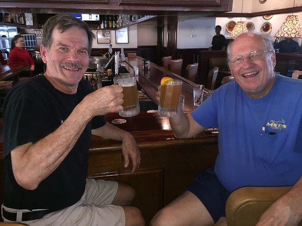 Larry & Don enjoying a cold one