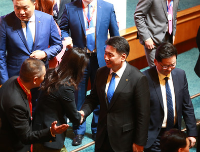 2018 оны тавдугаар сарын 22. Монголын эдийн засгийн чуулган.   ГЭРЭЛ ЗУРГИЙГ Б.БЯМБА-ОЧИР/MPA