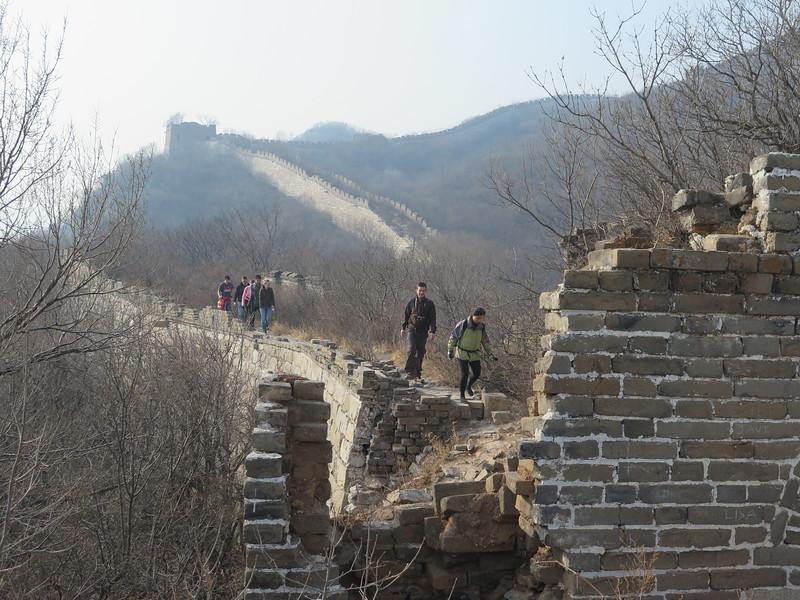 hike the Great wall  from Jiankou to Mutianyu