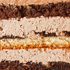 Layered chocolate cake detail as a background