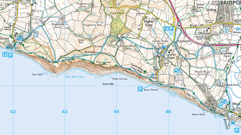 The route we followed is in blue and we went in a clockwise direction.