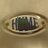 """A Jim Hume creation...as per his business card a hand-crafted flush-mounted logo...  """"Creator of Unique and Curious Things """"..."""