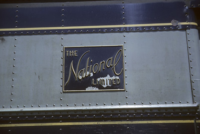 2016.020.17.11--jim neubauer 35mm kodachrome--B&O--passenger train National Limited logo on car--location unknown--1964 0500