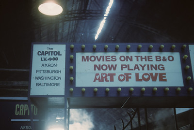 2016.020.17.17--jim neubauer 35mm kodachrome--B&O--The Capitol Limited passenger train movie marquee in train station--location unknown--1966 0300