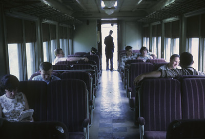 2016.020.17.21--jim neubauer 35mm kodachrome--B&O--coach interior on Haswell Special passenger train--location unknown--1967 0600