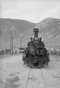 2016.020.98.236--jim neubauer 828 neg--D&RGW--The Silverton arrived with steam locomotive 2-8-2 K-28 276--Silverton CO--c1952 0000