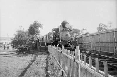 2016.020.99.055--jim neubauer 127-8 neg--C&S--steam locomotive 9 on excursion train at Chicago Railroad Fair--Chicago IL--c1950 0000