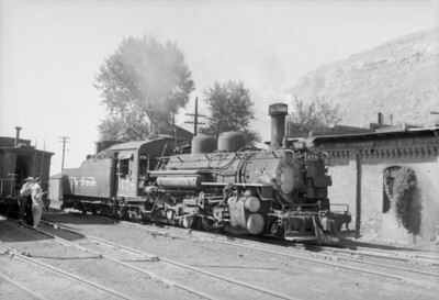 2016.020.98.250--jim neubauer 828 neg--D&RGW--steam locomotive 2-8-2 K-28 278 in yard--Durango CO--c1952 0000