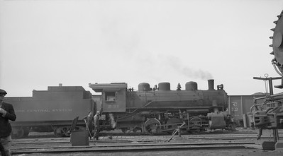 2016.020.99.209--jim neubauer 116 neg--CJ (NYC)--steam locomotive 0-6-0 B62 231 scene 47th St stockyards--Chicago IL--c1950 0000