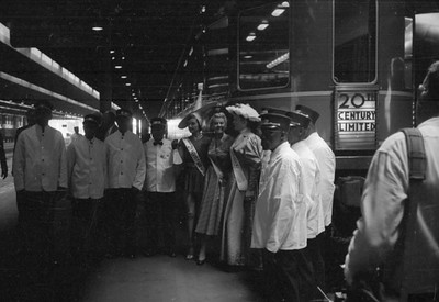 2016.020.98.260--jim neubauer 828 neg--NYC--20th Century Ltd passenger train 50th Anniversary event at LaSalle Street station--Chicago IL--1952 0615