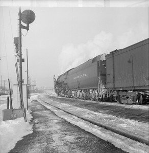 2016.020.99.191--jim neubauer 120 neg--NYC--steam locomotive on passenger train--Englewood IL--1951 1216