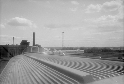 2016.020.98.270--jim neubauer 828 neg--CB&Q--view from dome of Zephyr passenger train backing into SPUD--St Paul MN--1952 0517