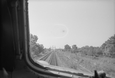2016.020.98.143--jim neubauer 828 neg--CRI&P--view from cab down tracks--location unknown--c1952 0000