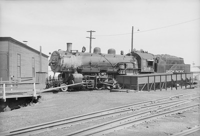 2016.020.98.055--jim neubauer 828 neg--UP--steam locomotive 2115 at engine servicing terminal--Manhattan KS--c1953 0000