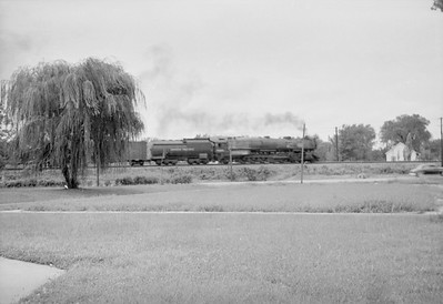 2016.020.98.048--jim neubauer 828 neg--UP--steam locomotive 4-12-2 on freight train action--Fort Riley KS--c1953 0000
