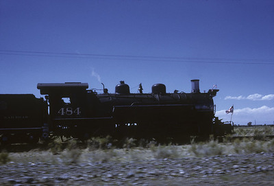 2016.020.50.01--neubauer 35mm kodachrome--C&TS--first season 2-8-2 484 arriving--Antonito CO--1971 0700