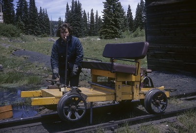 2016.020.50.24--neubauer 35mm kodachrome--C&TS--first season track speeder--Cumbres CO--1971 0700