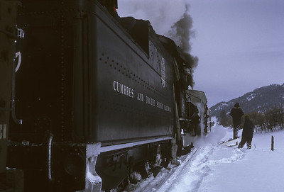 2016.020.51.30--neubauer 35mm kodachrome--C&TS--rotary snowplow OM fantrip another runby--near Chama NM--1975 0200