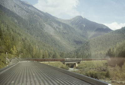 2016.020.08.05--jim neubauer 35mm kodachrome--CP--view from The Mountaineer passenger train in the Rockies--location unknown--1958 0900