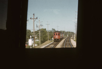 2016.020.13.1955-3--neubauer 35mm kodachrome--CA&E--view from electric interurban train at passing interurban--near Wheaton IL--1955 0911
