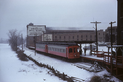 2016.020.13.1958-06--neubauer 35mm kodachrome--CA&E--electric interurban 320 and 319 last fantrip--Aurora IL--1958 1207