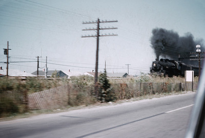 2016.020.01.1955-033--jim neubauer 35mm kodachrome--C&NW--steam locomotive 4-6-2 on commuter passenger train action--near Palatine IL--1955 0800