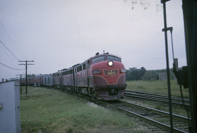 2016.020.05.06--jim neubauer 35mm kodachrome--GM&O--EMD diesel locomotive 880-A on The Limited passenger train--location unknown--1964 1000