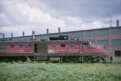 2016.020.05.01--jim neubauer 35mm kodachrome--GM&O--EMD diesel locomotive 270 (retired)--location unknown--1963 0700