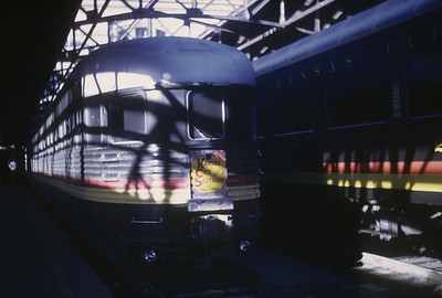 2016.020.17.01--jim neubauer 35mm kodachrome--KCS--passenger train 2 Southern Belle at Union Station--Kansas City MO--1967 1100