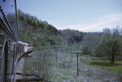 2016.020.17.14--jim neubauer 35mm kodachrome--KCS--view from Southern Belle passenger train 1 somewhere in MO Ozarks--location unknown--1968 0400