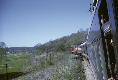 2016.020.17.17--jim neubauer 35mm kodachrome--KCS--view from Southern Belle passenger train 2 somewhere in MO Ozarks--location unknown--1968 0400