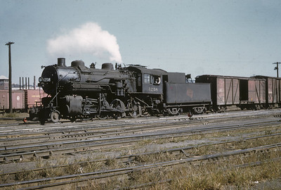 2016.020.02.1955-04--neubauer 35mm kodachrome--CMStP&P--steam locomotive 2-8-0 1258 switching in yard scene--Milwaukee WI--1955 1000